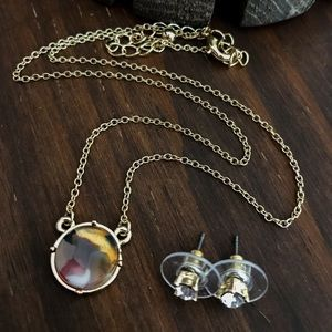 Jewelry - Round Celluloid Pendant Necklace